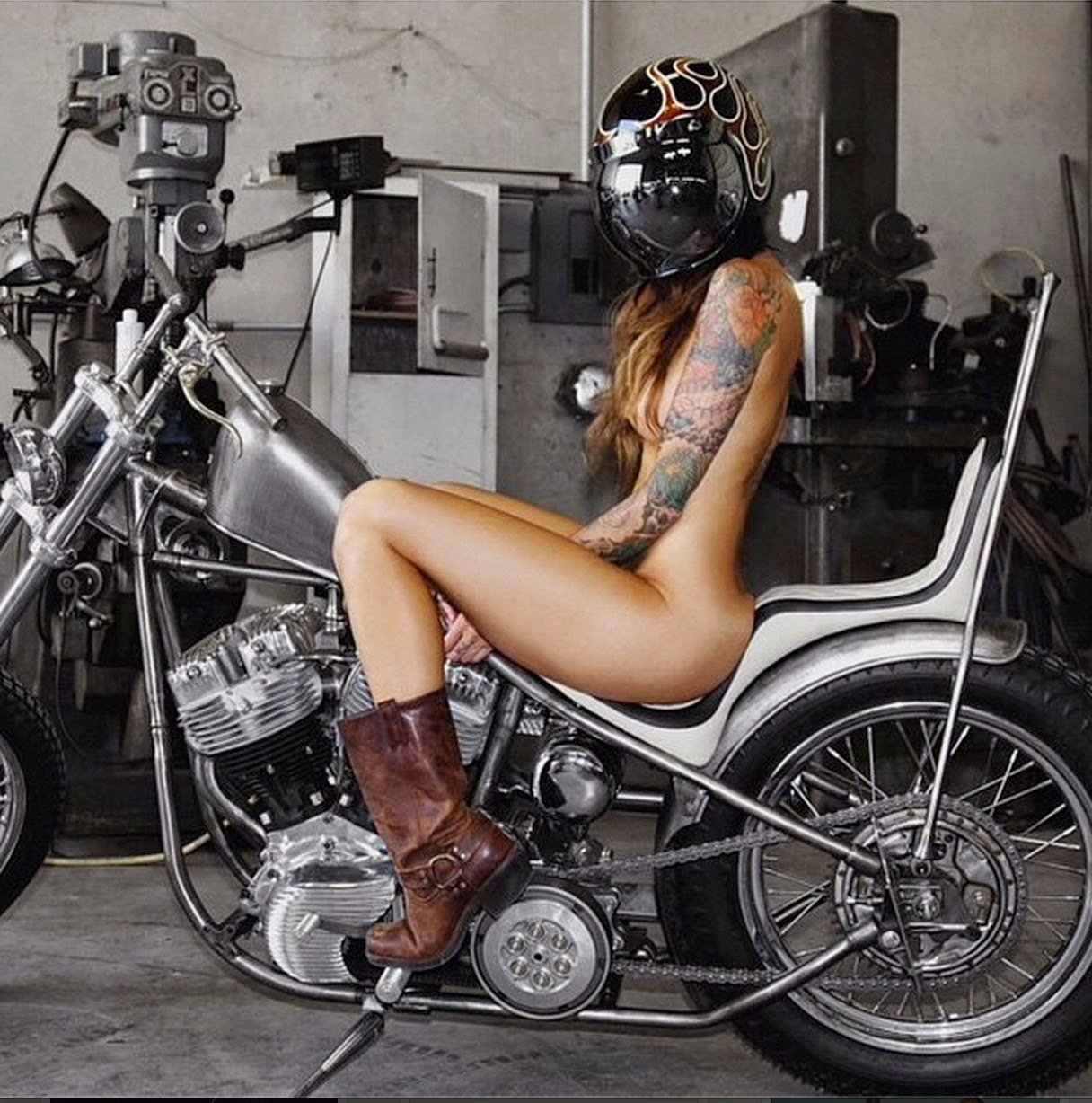 Old Biker Women Naked