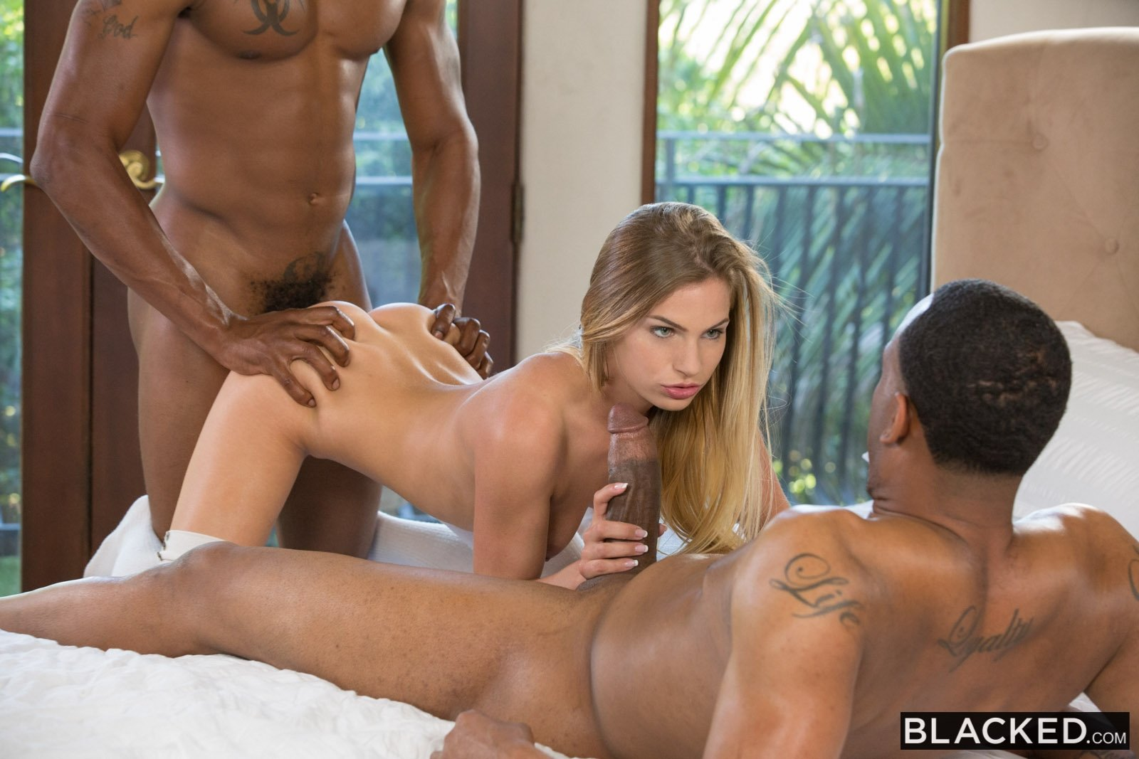 Hot black threesome porn