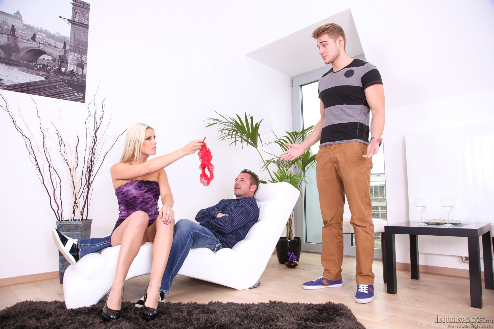 Wife gets tied up and forced to watch hubby