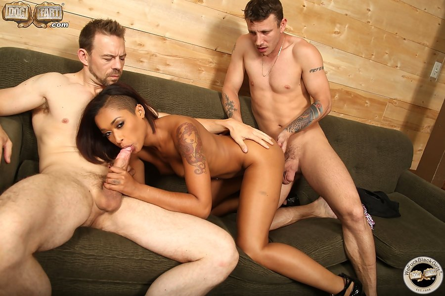 Black monster cock getting sucked by a white lady 22