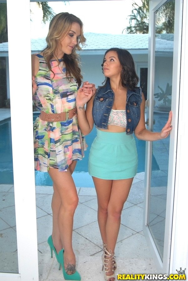 Gorgeous Lesbo Girls (Ally Tate &amp_ Alexis Deen) Play In Hot Sex Scene video-04 there