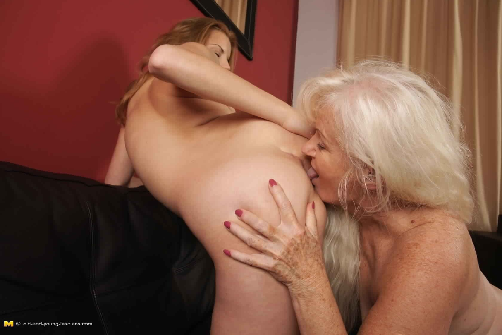 old and young anal licking