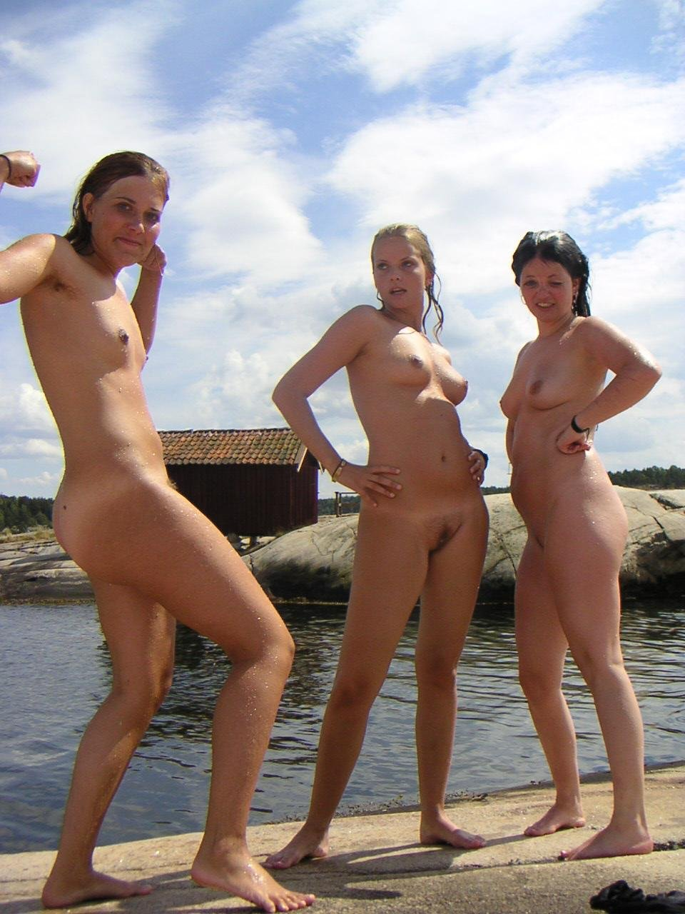 sexy girls naked at beach