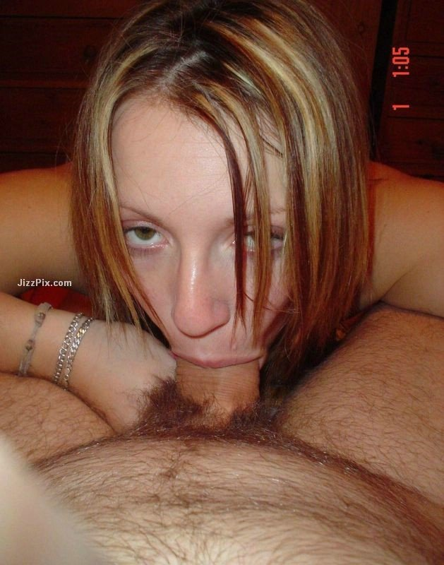 image Gf blowjob cum on glasses and goldie lock