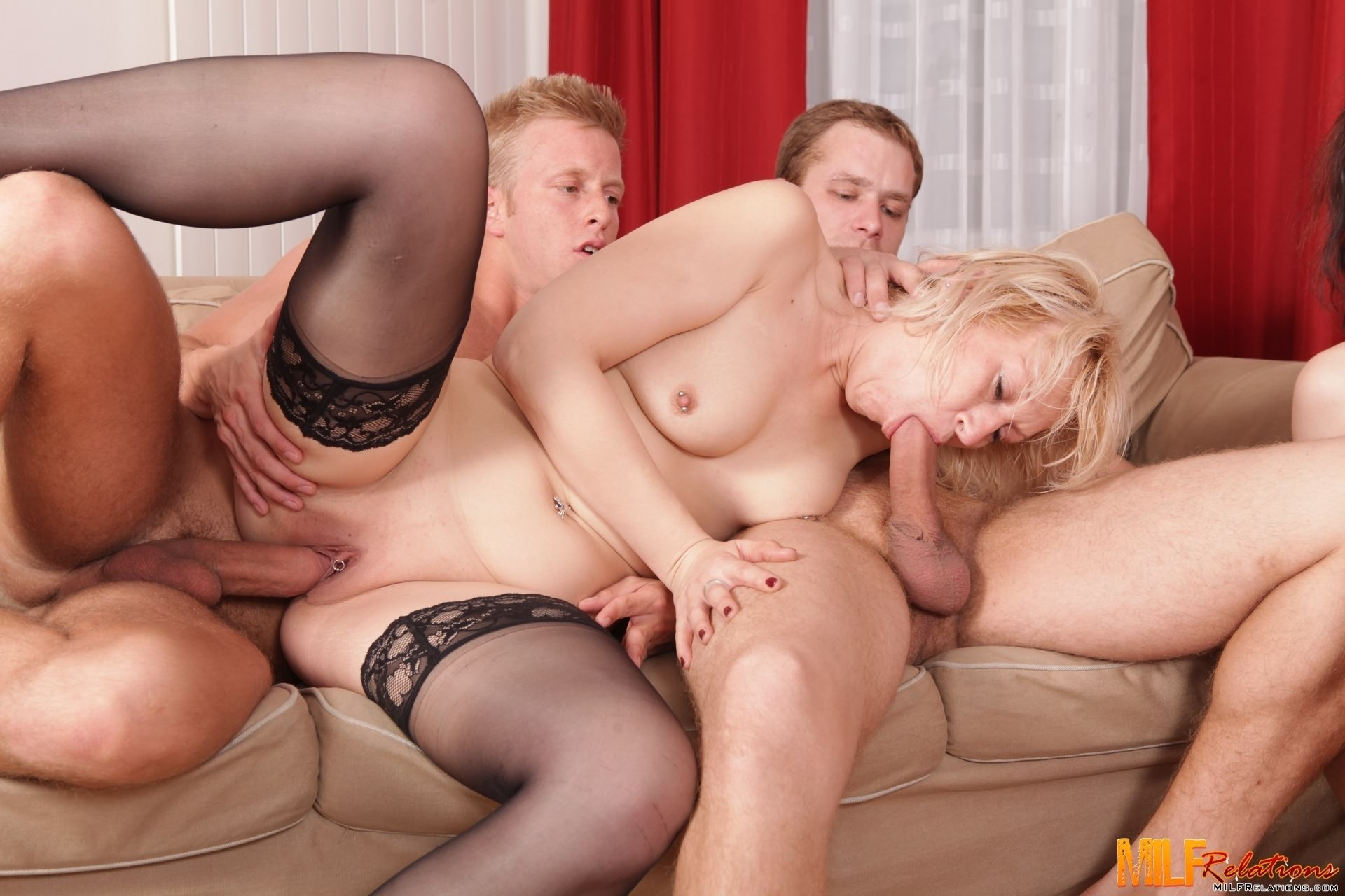 Group sex my blond milf sexwife