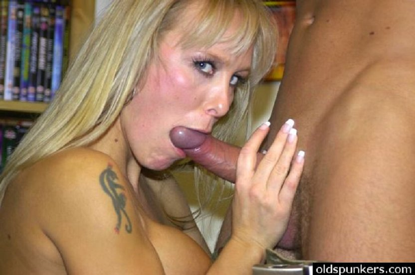 She touch dick grope
