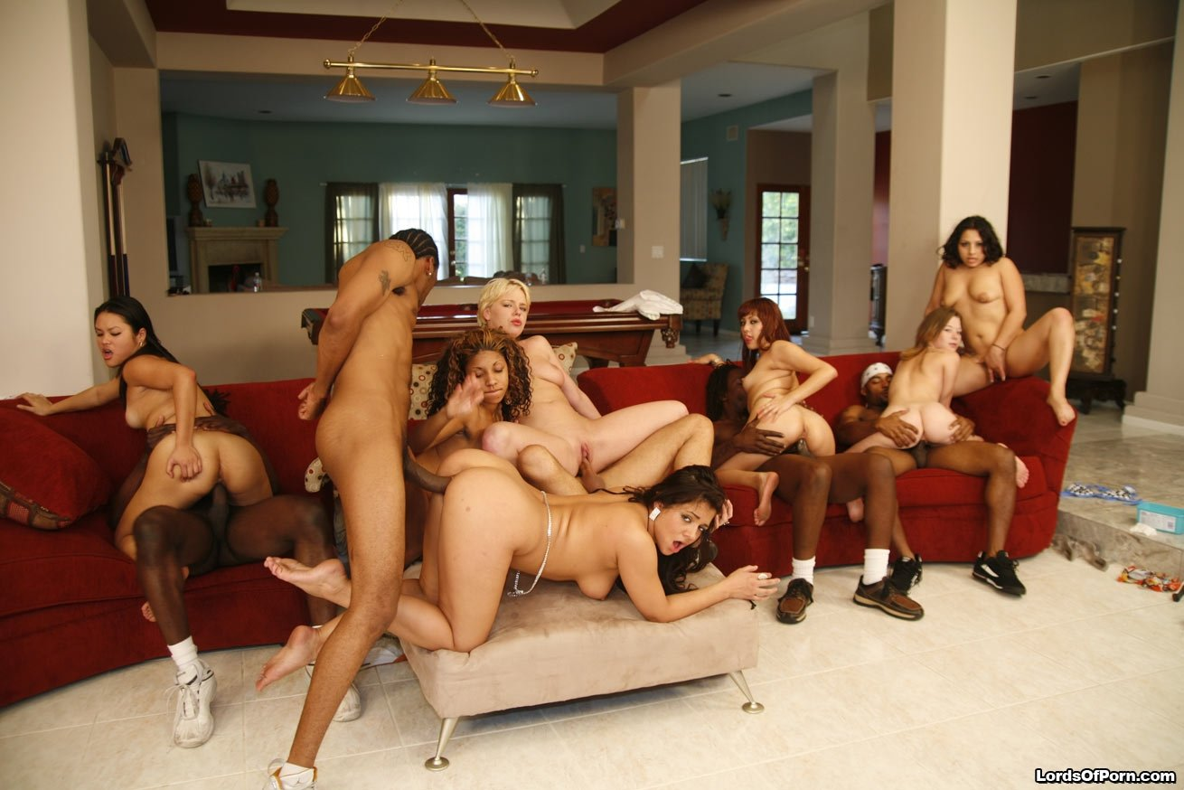 Black girl white guy orgy