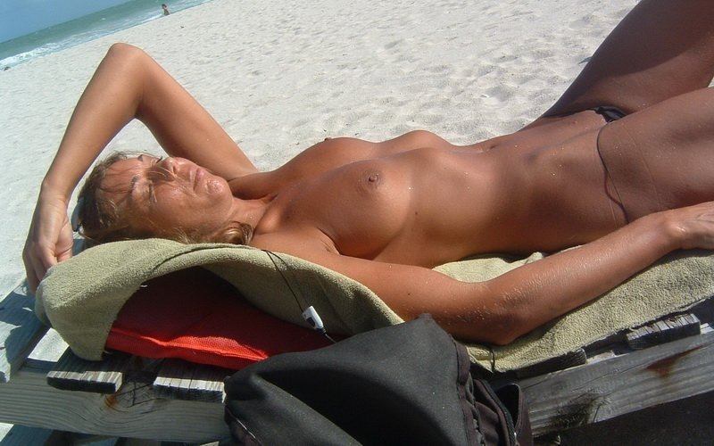 Milf sex in beach #1