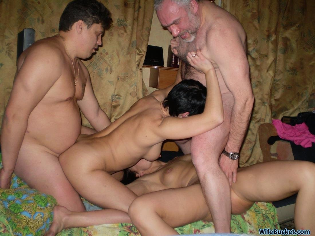Old Farts Took Their Young Wives To A Swinger Party-4209