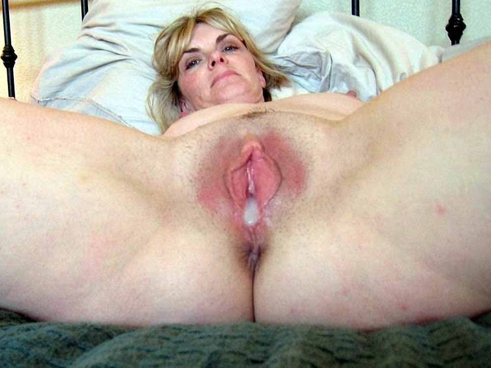 Naked mature creampie — 8