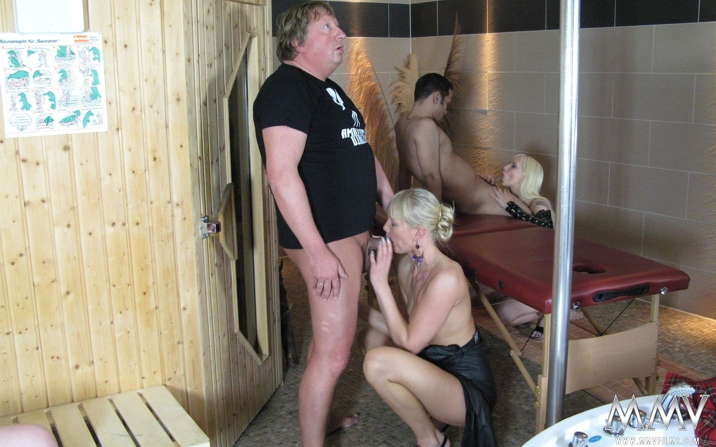 White wife cheating with black bull fake mom tits