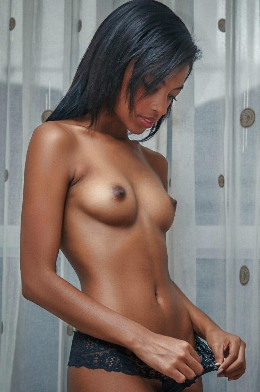Small tits black nipples