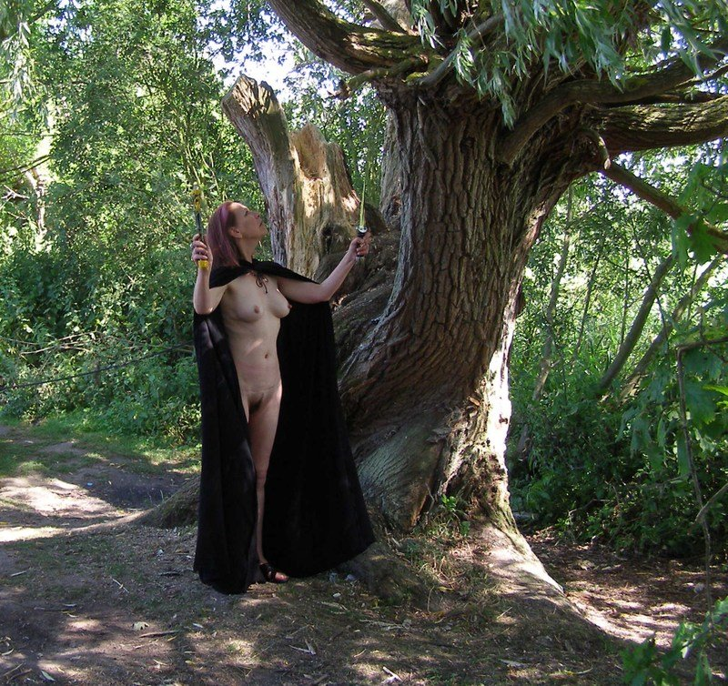 Nudity down the forest path