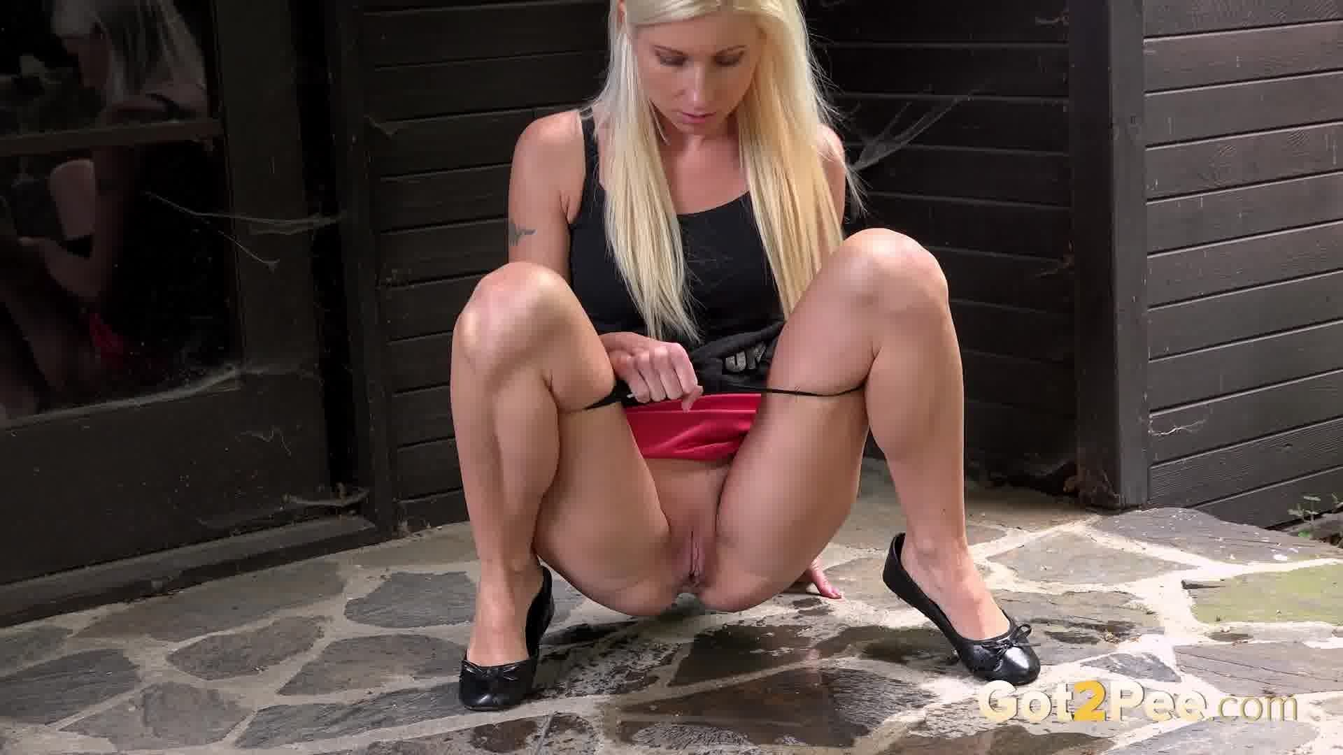Skirt and peeing #14