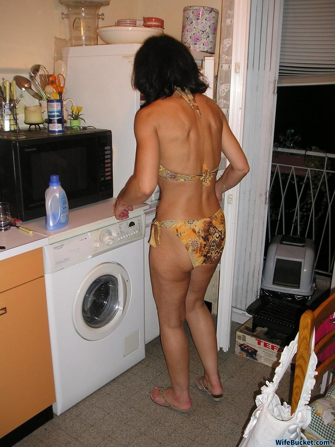 Cheating wife after husband went out Nude prob amateur