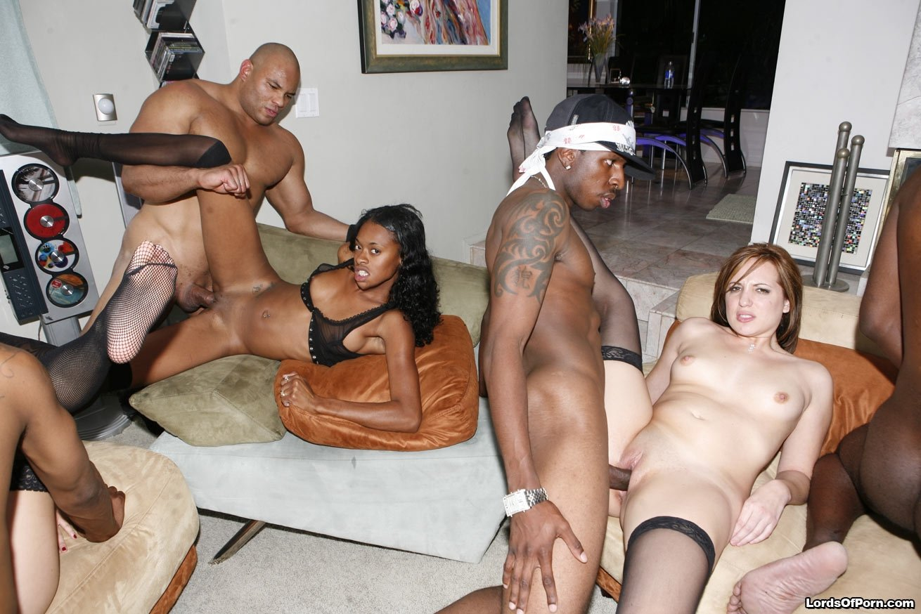 Free interracial sex orgy — pic 12