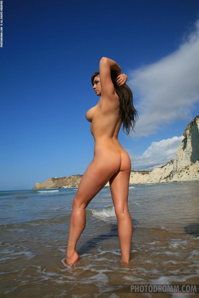 Naked granny on beach #12