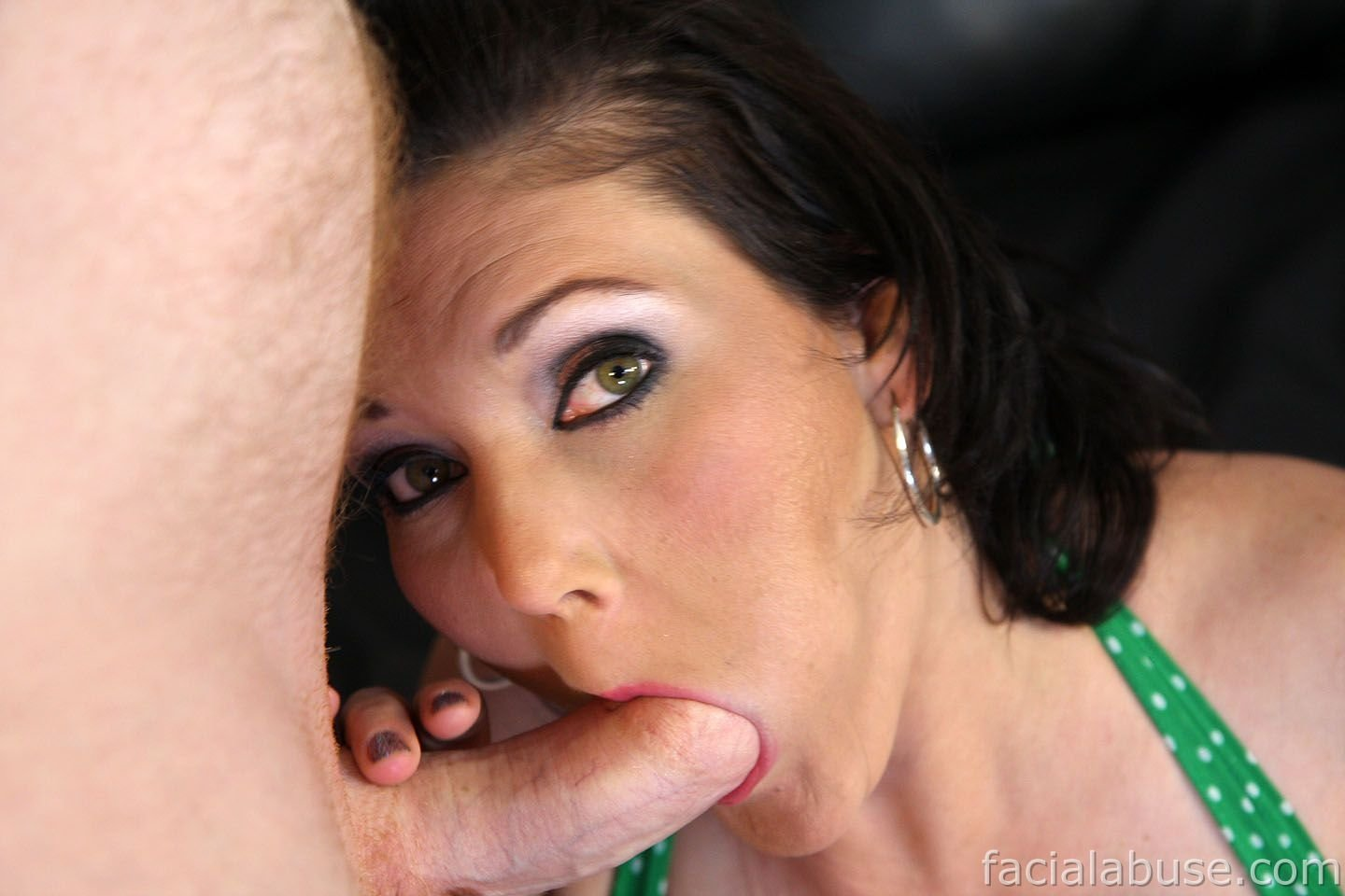 Capri Cavalli taking on a deep throat with sperm going there