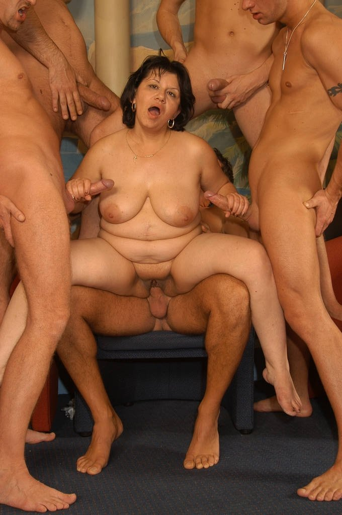 ebony mature and young