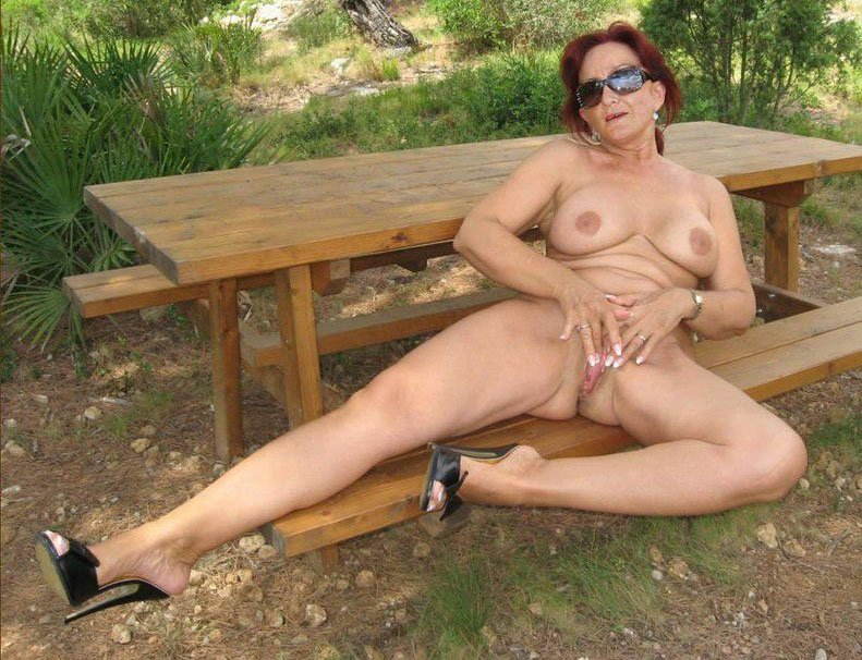 Free nude moms outdoors