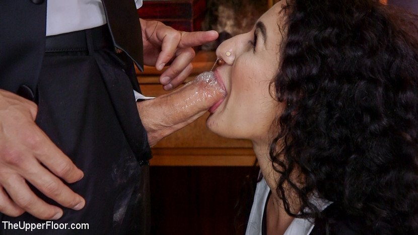 Deep throat cock sucking and anal pounding
