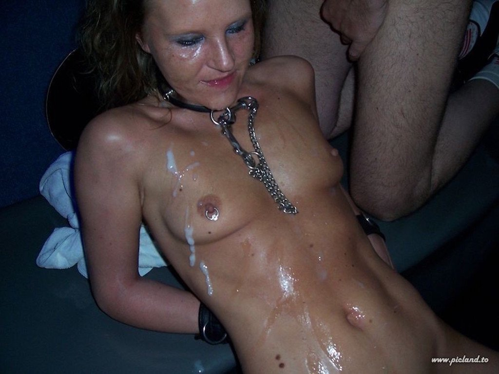 Cum covered gallery