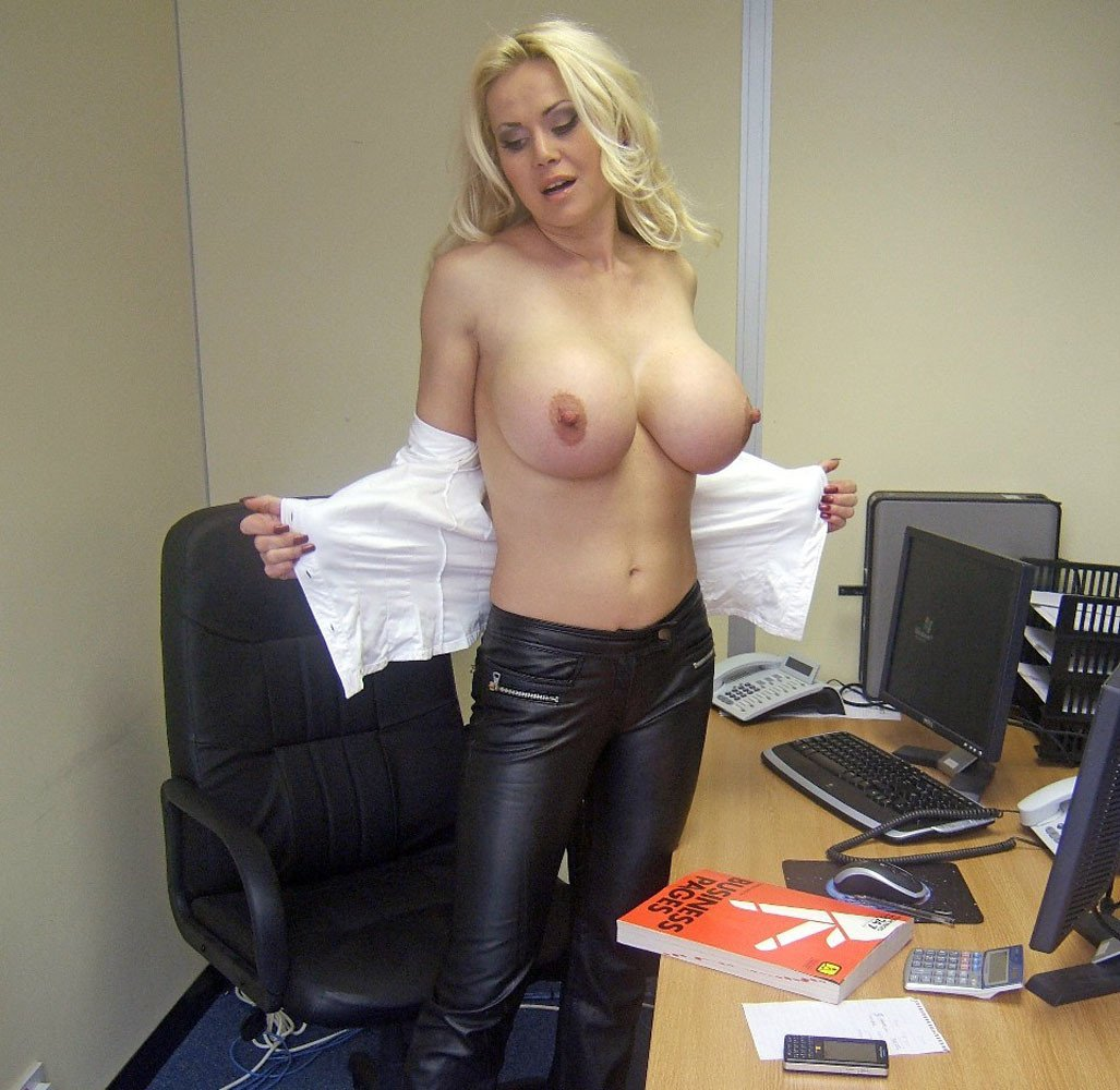 Nude in the dean's office porn pic