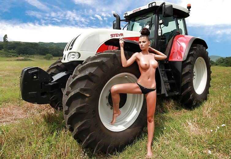Naked Farm Babes Get Down To Their Wellies As They Pose By Tractors For A Bizarre German Calendar