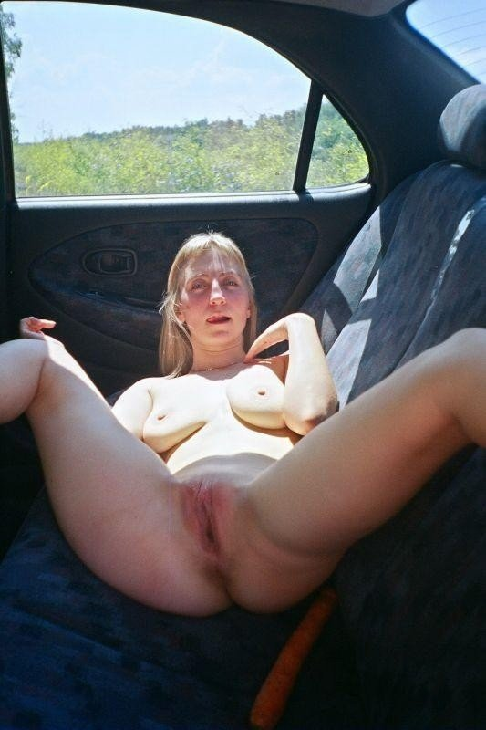 Blonde with large clit