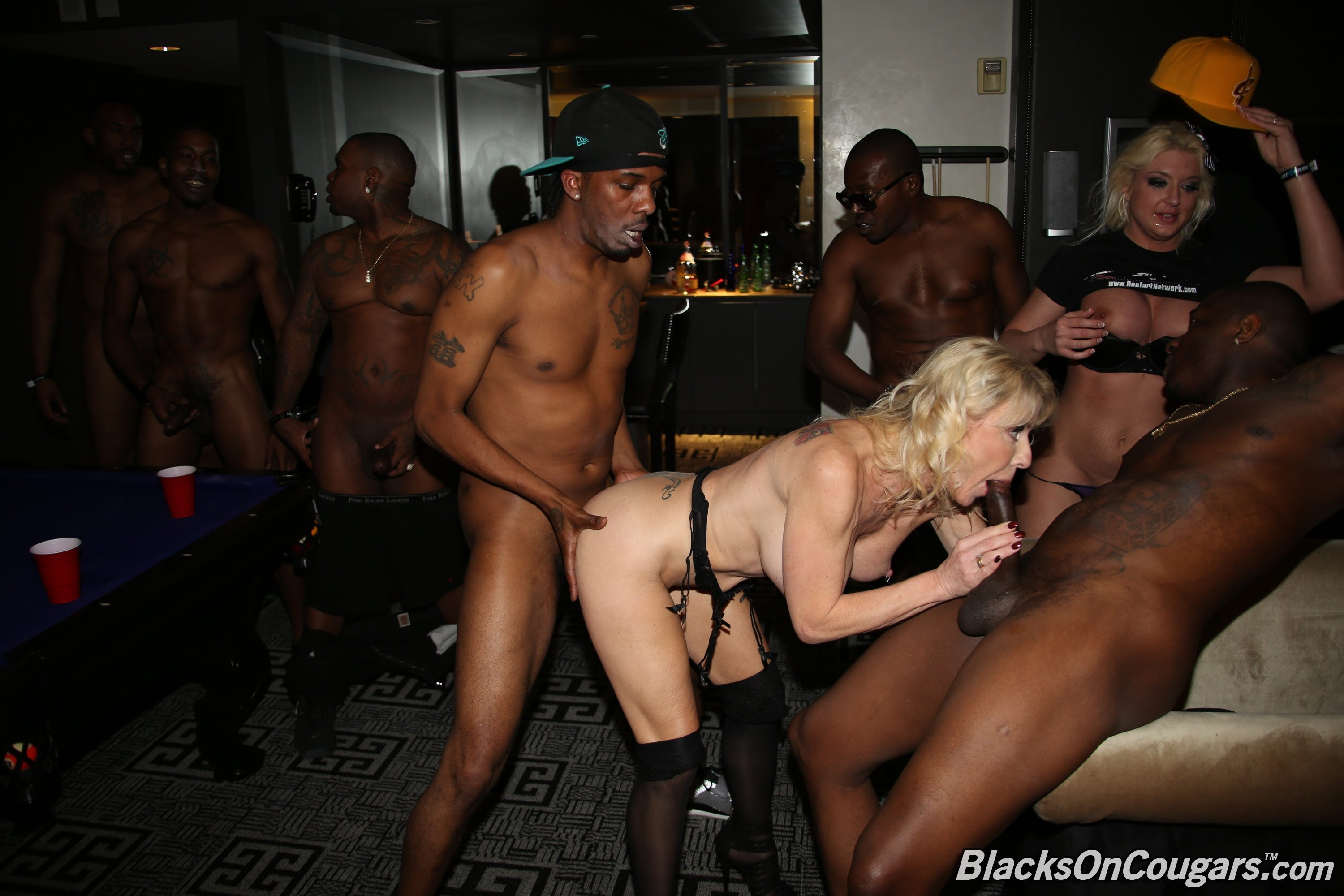 Remarkable Interracial gang bang movie seems magnificent
