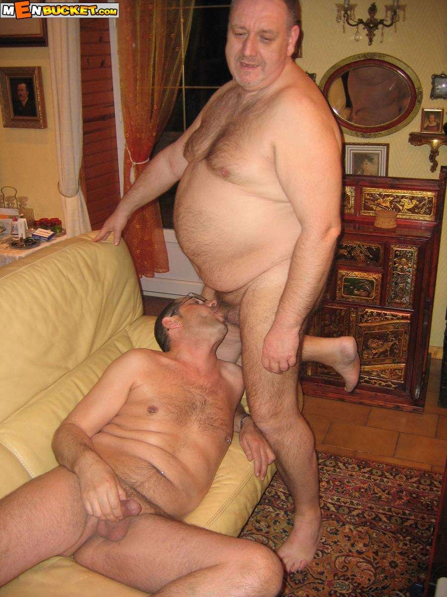 Naked fat old dudes