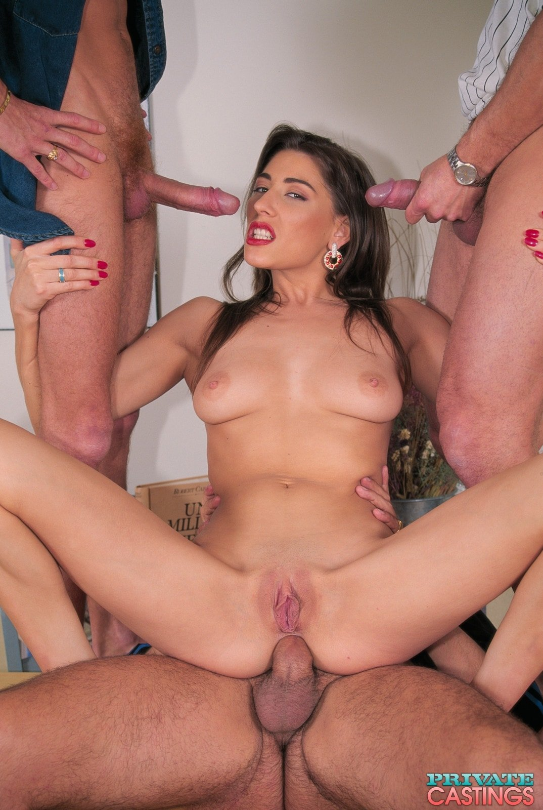 Cocksucking asian bitch gets all her holes creamed add photo