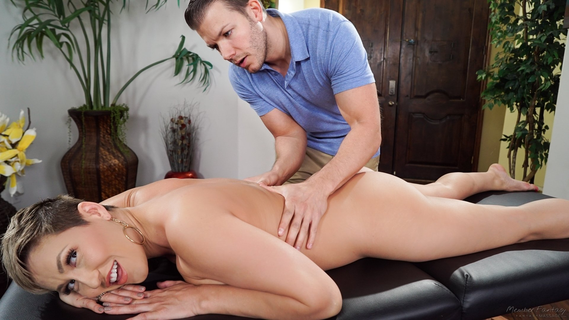 A Slim Brunette Was Fucked By A Horny Massage Therapist, Free Porn