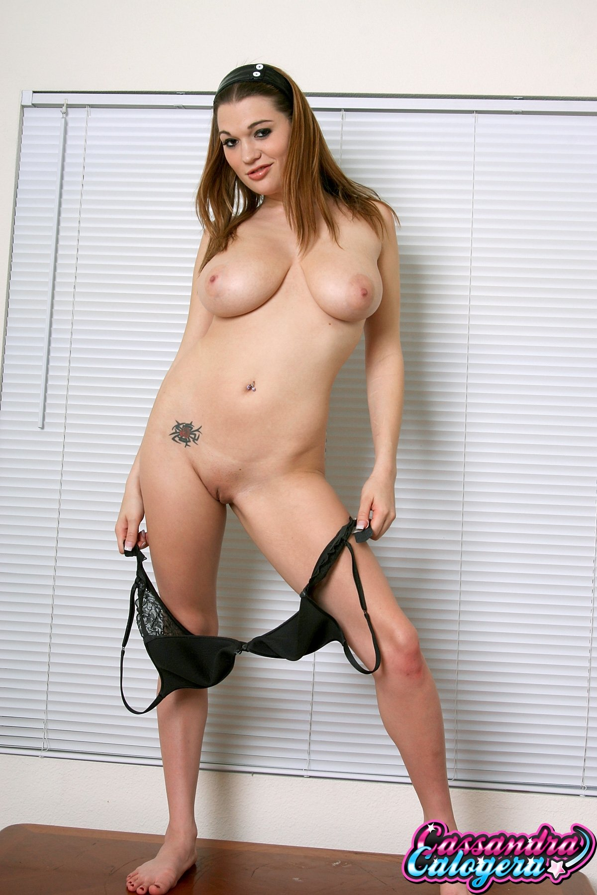 Young brunette with big tits #1