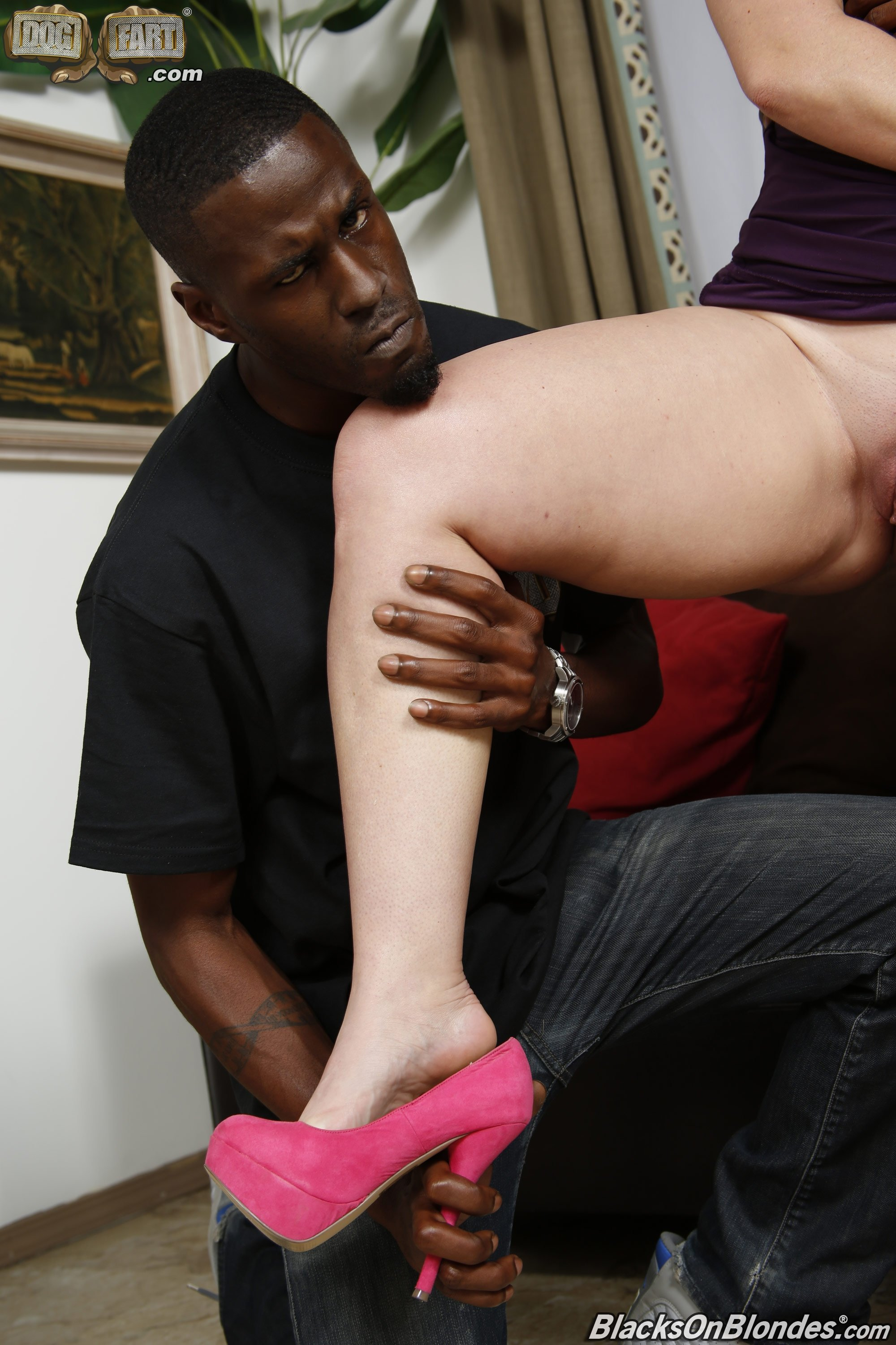 Wife stockings interracial #1