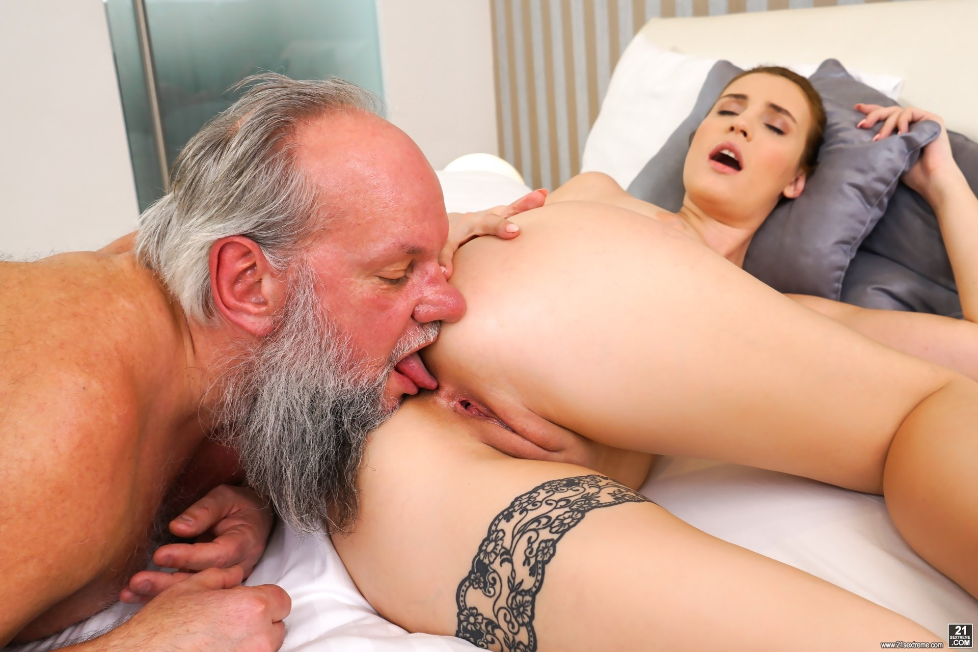 Grandfather with young girl porn