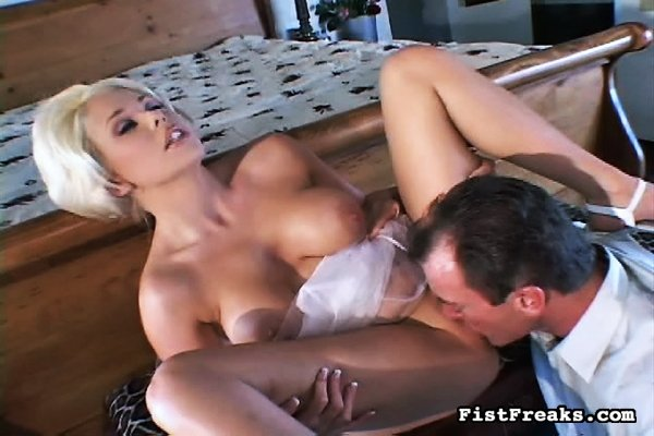 blond double anal there