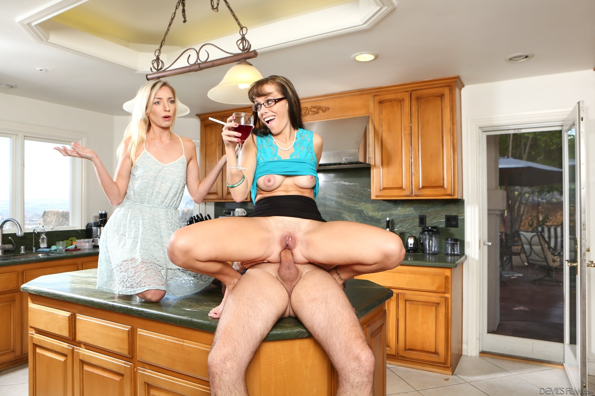 Caught mom with sex toy
