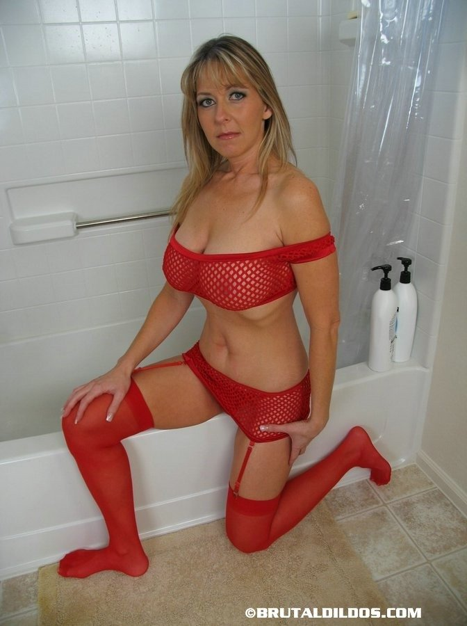 Wife with inflatable dildo