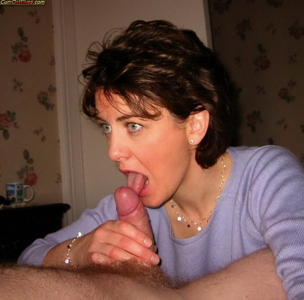 Mature wives giving head