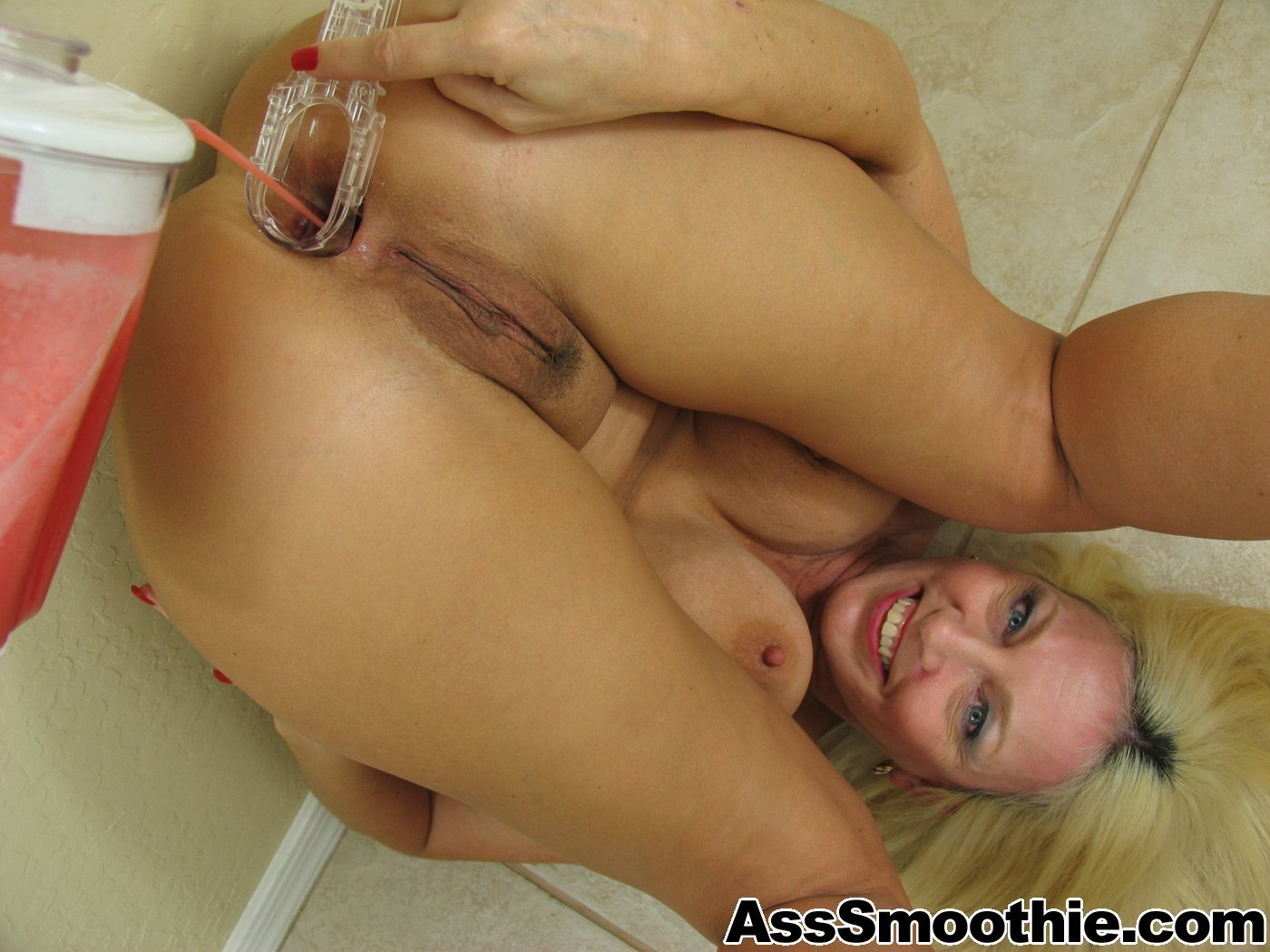 hot blonde anal creampie