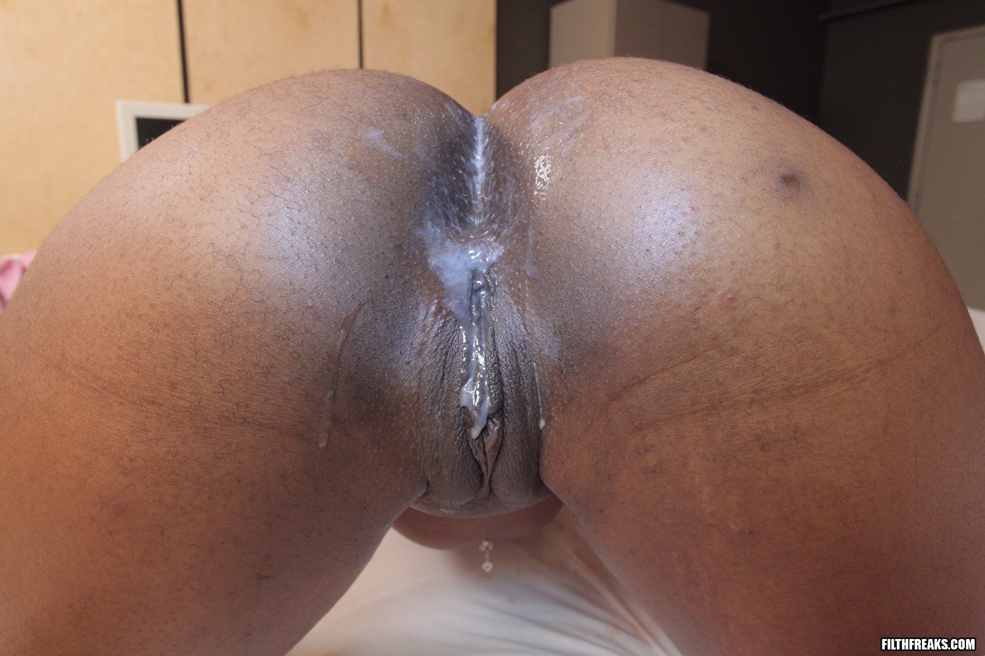 Black girl pussy dripping with cum, beauriful girls sex