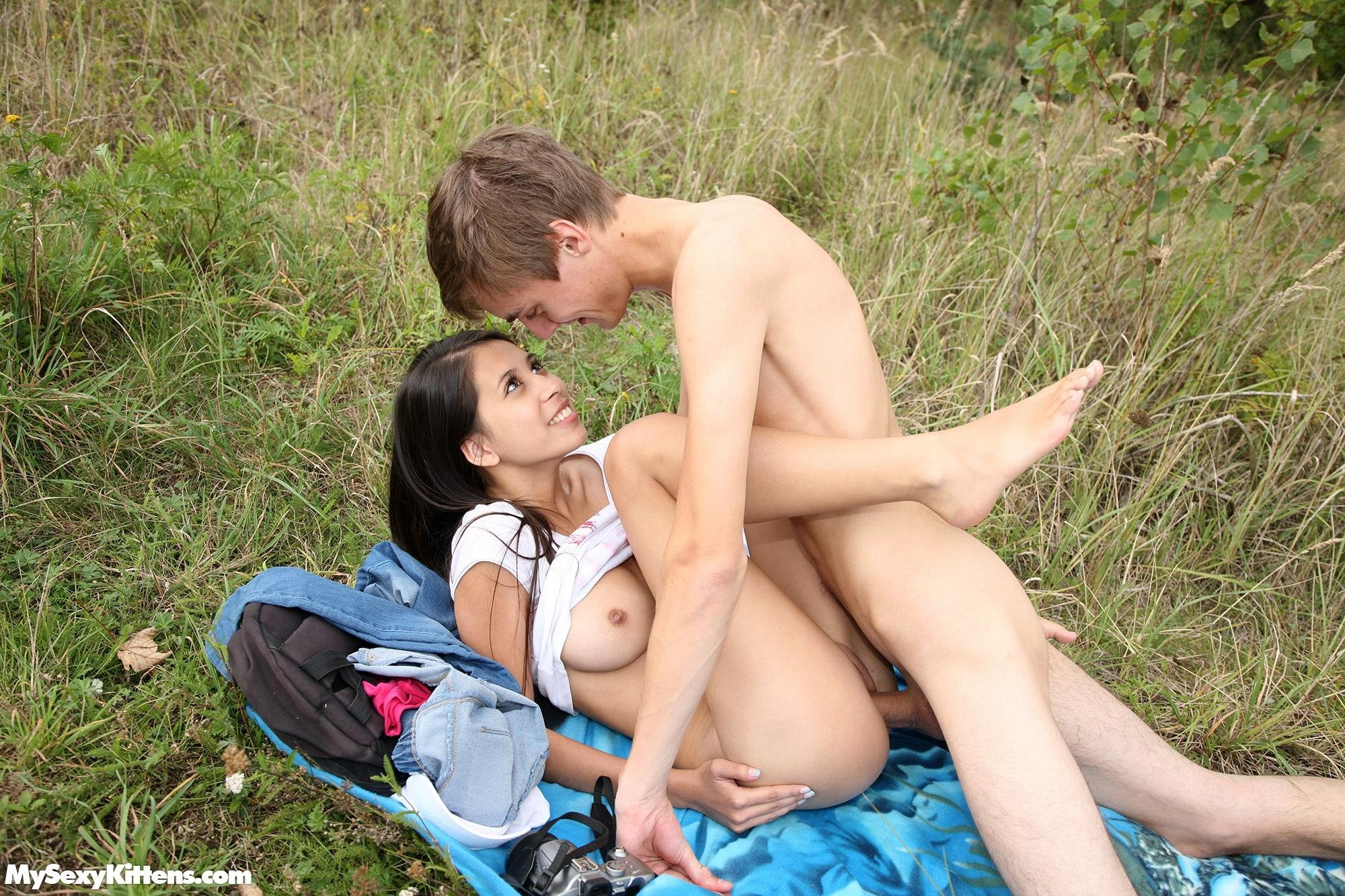 best of skinny outdoor sex
