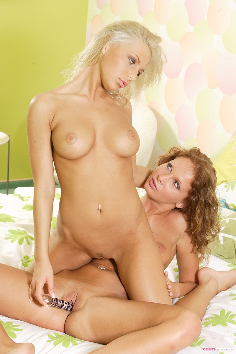 lesbian strapon bed add photo