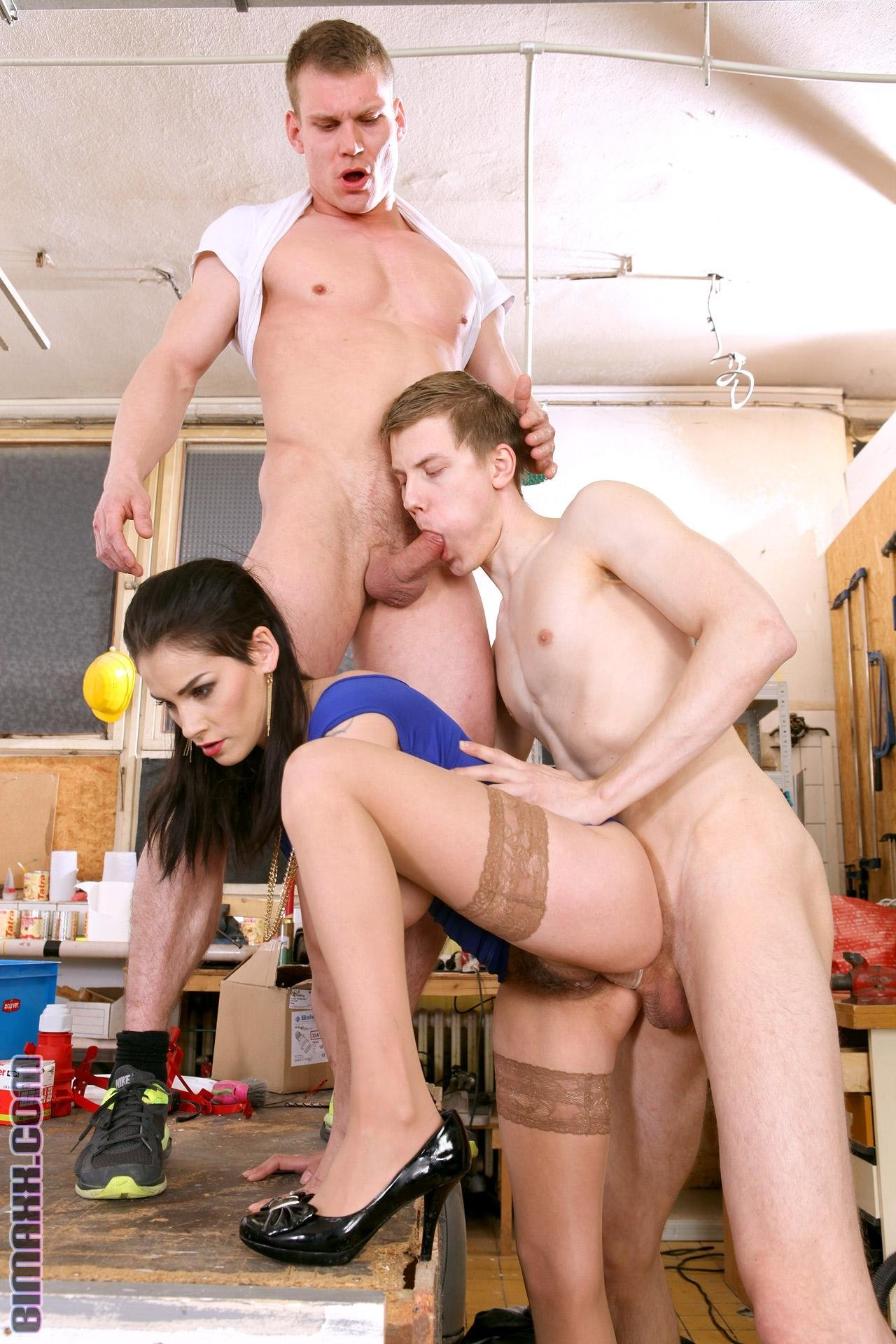 Bi Step bros tag-teaming girlfriend - Eveline Dellai, Charlie Dean and Alessandro Katz