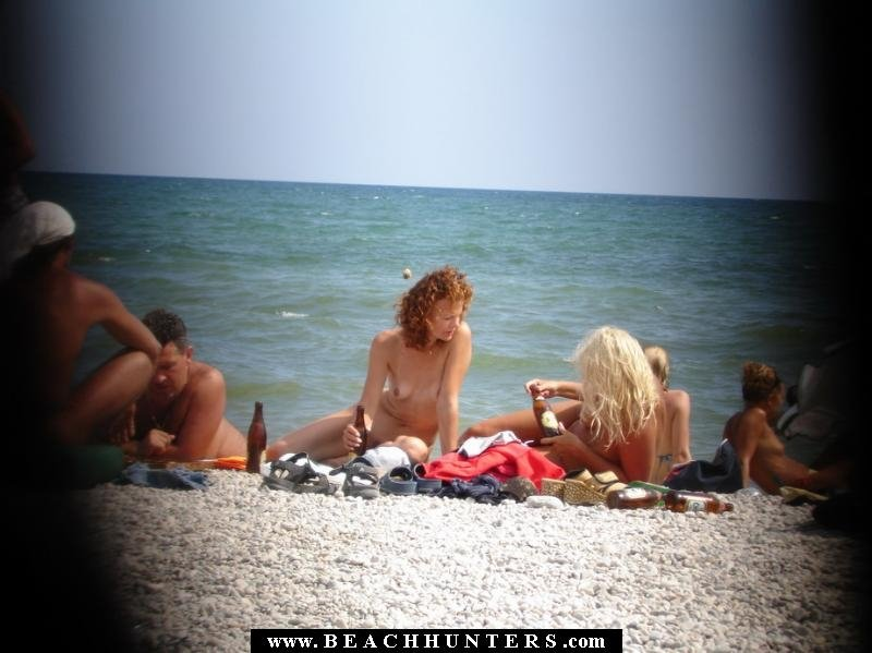 Teen naked in the beach #1