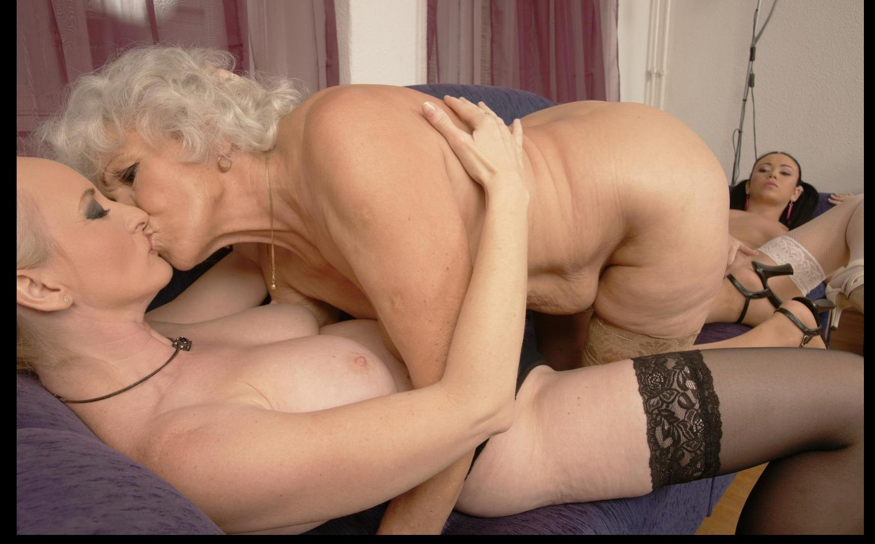 Know one Mature lesbian grannies kissing