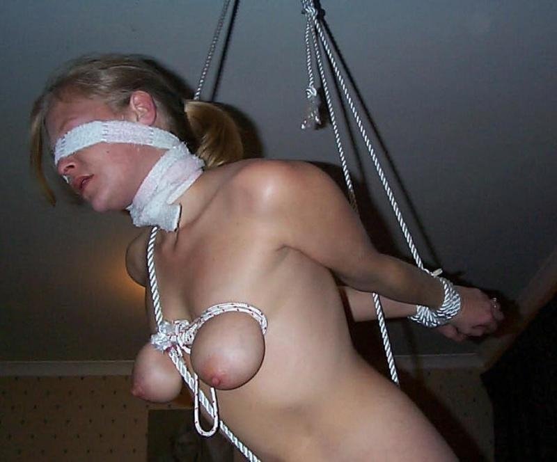 19yo petite blindfold bondage slut sperm gang bang 8