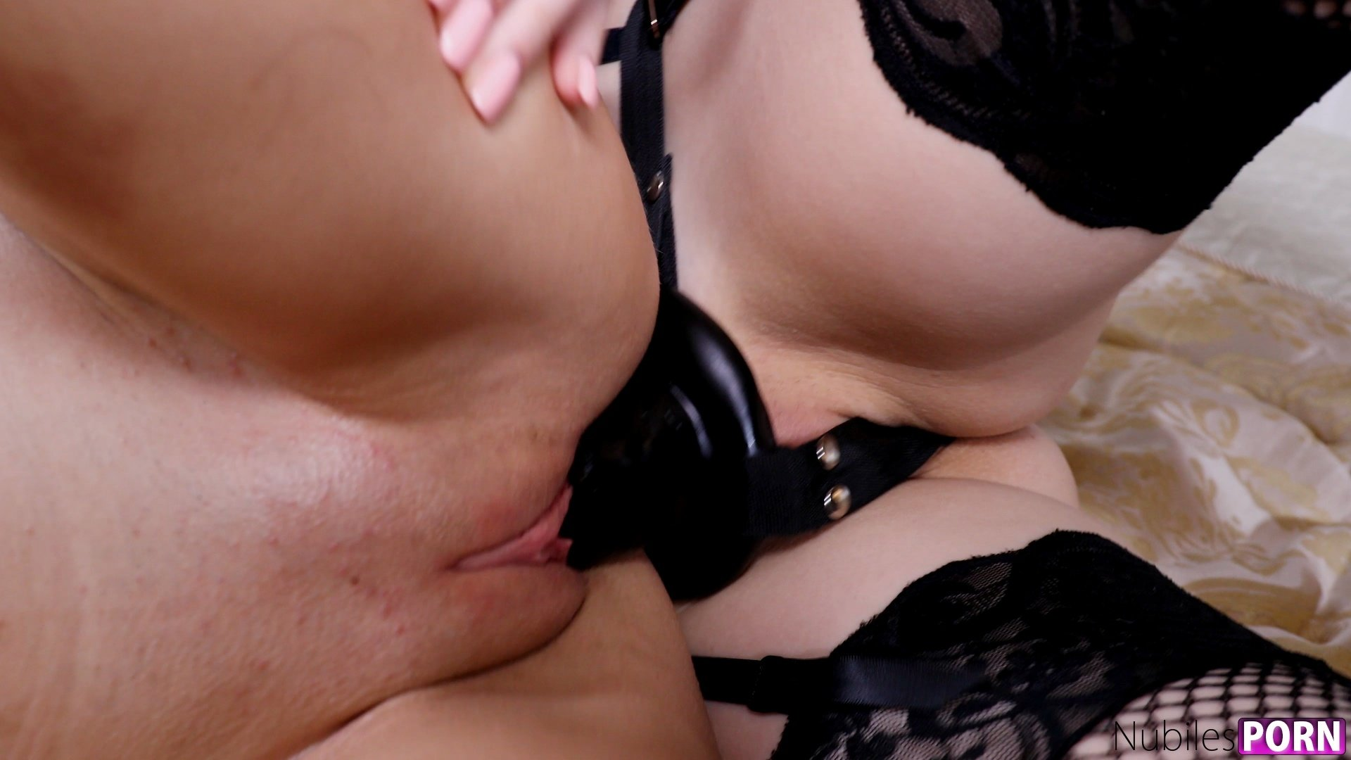 Mistress makes slave lick hairy pussy deeply
