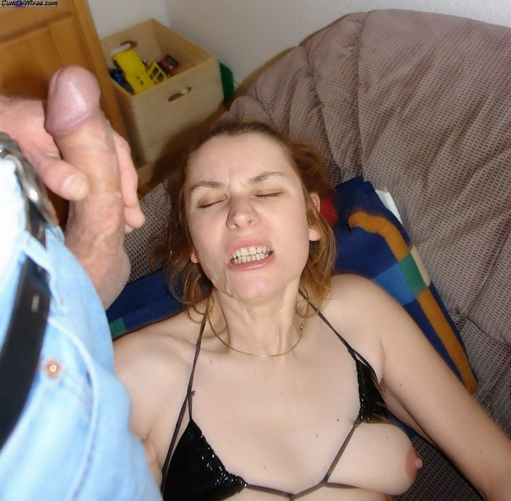 Amateur cheating wife cumshot